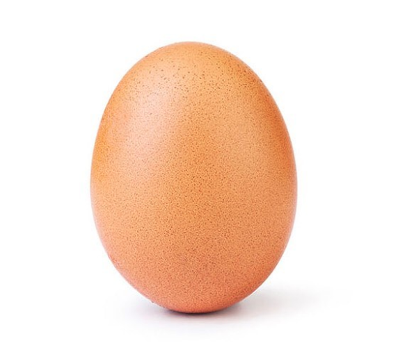 This egg is breaking records on Instagram