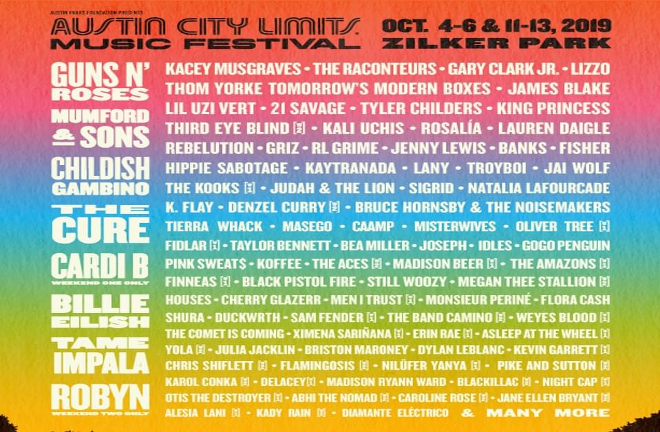 ACL Weekend 1 @ Zilker Park | 10.4.19 – 10.6.19