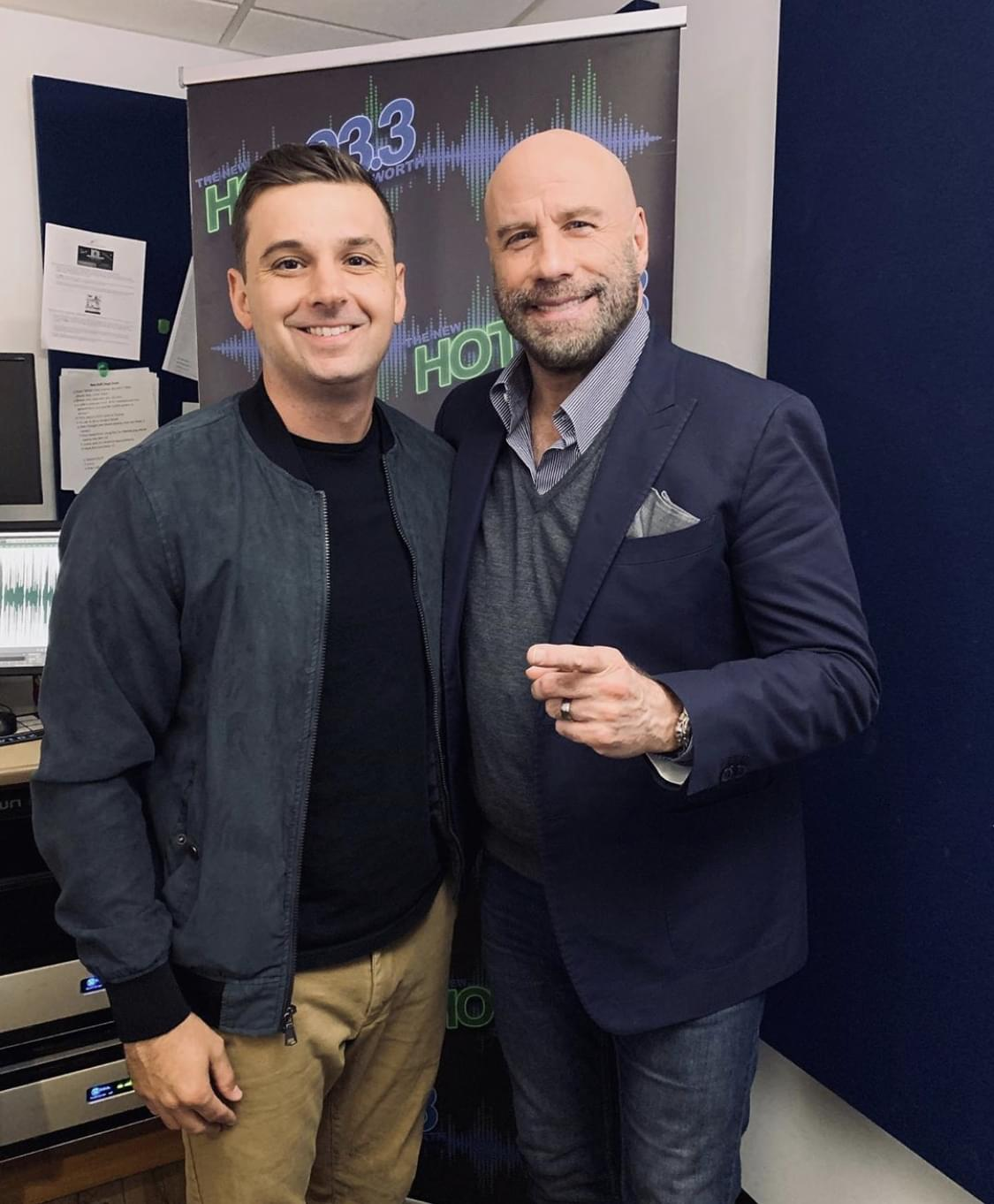 John Travolta Stops By the Studio 'The Fanatic'