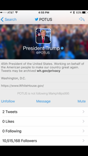 Donald Trump Gets Official Presidential Twitter Account @POTUS !