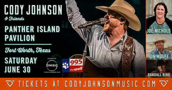Your Last Chance to Win Cody Johnson Tickets!