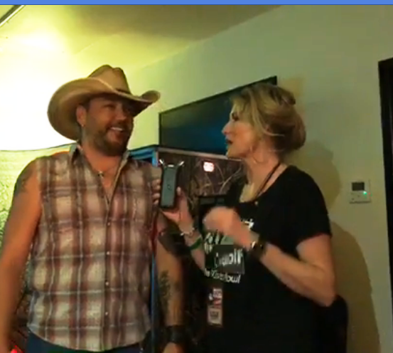 Hangin' backstage in Jason Aldean's dressing room before the High Noon Neon Tour