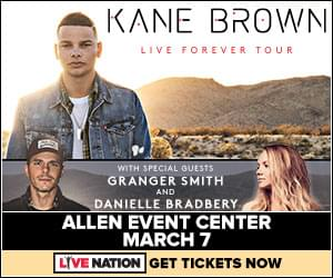 Kane Brown – Live Forever Tour | Allen Event Center | March 7, 2019