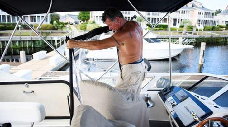 N.C. Man Decides to Ride Out the Hurricane on His Boat