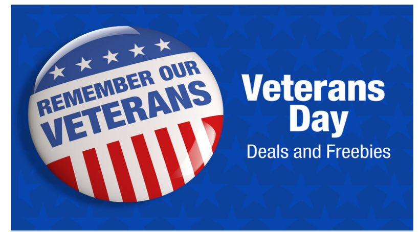 Free Food & Discounts for Veterans on Sunday 11/11