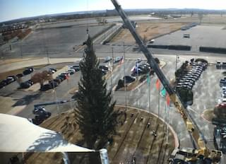 Time Lapse: Texas Motor Speedway Puts Up The Largest Living Christmas Tree In Texas!