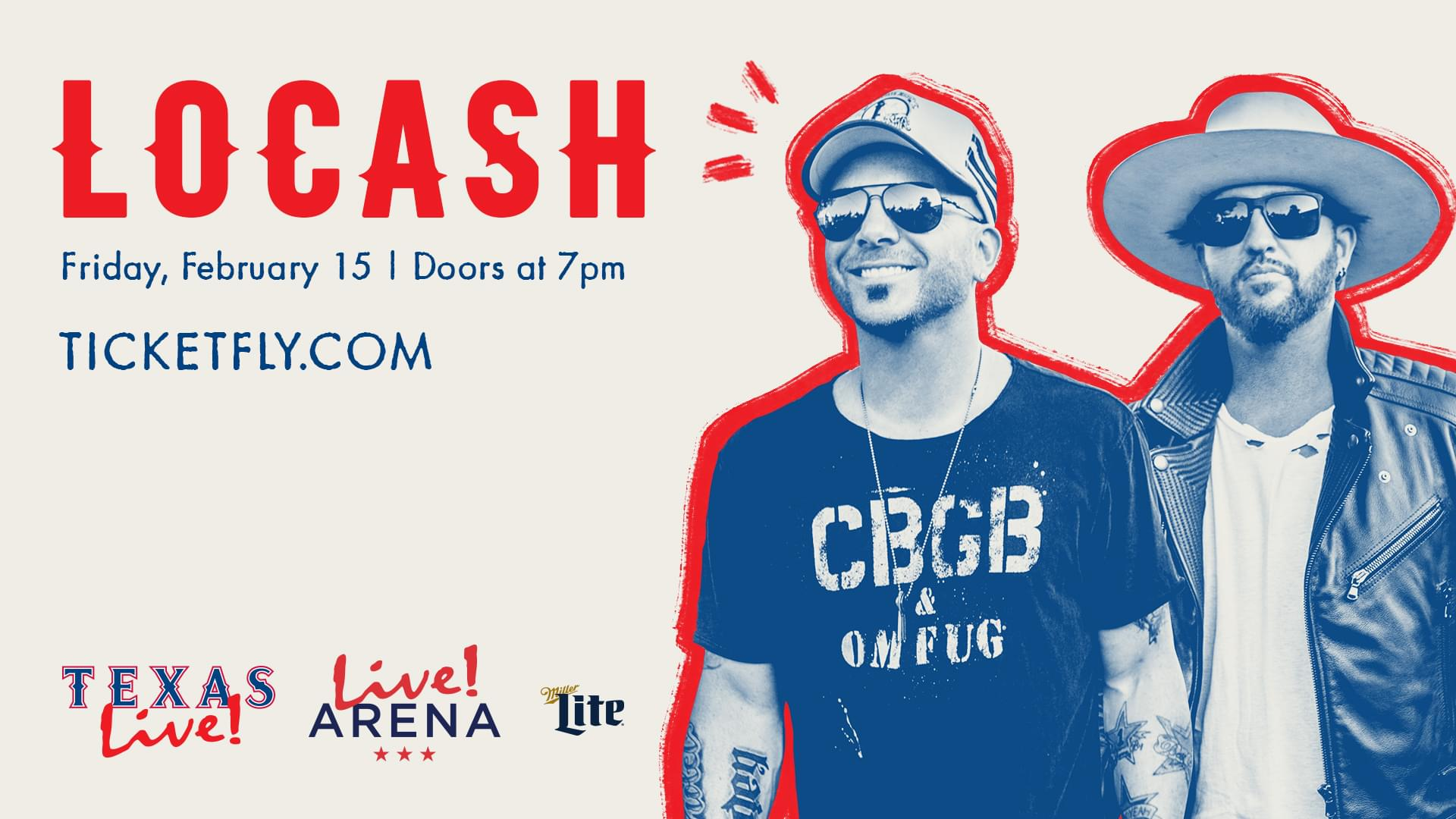 Win Tickets! LOCASH at Texas Live!   2.15.19