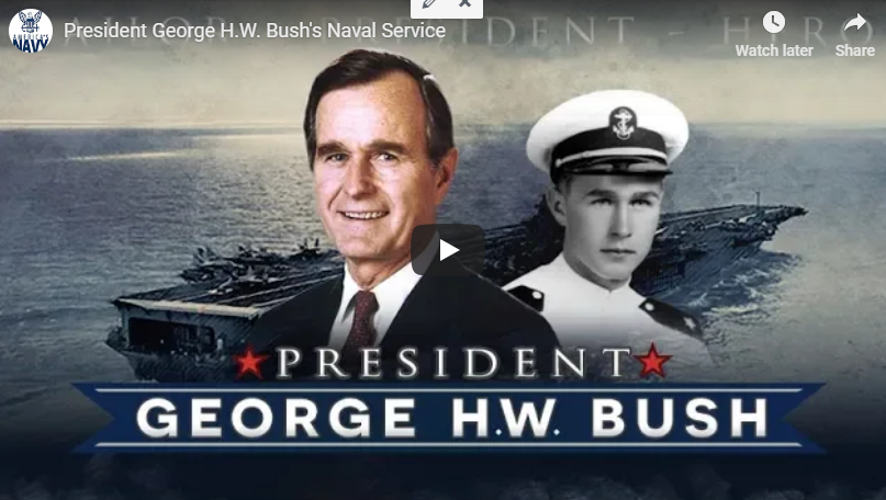 The Navy Has Compiled This Video Tribute Of George H.W. Bush's Naval Service!