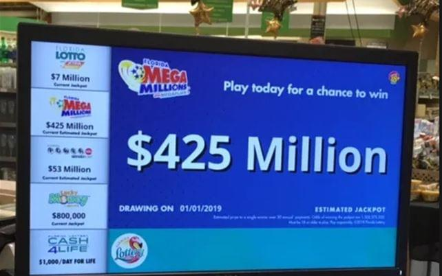 Mega Millions Drawing New Years Night $425M