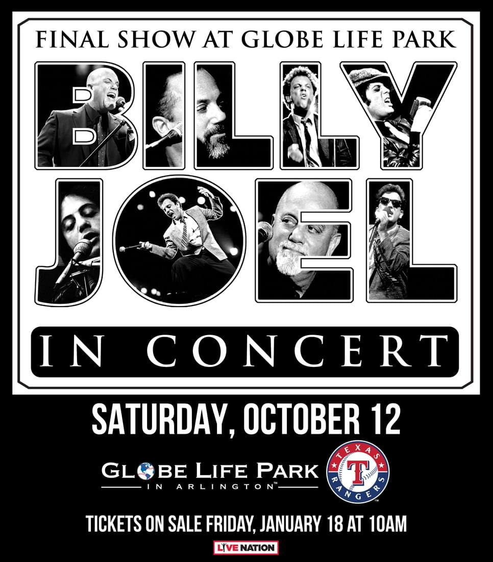 Billy Joel Will Perform The Final Show at Globe Life Park In Arlington!