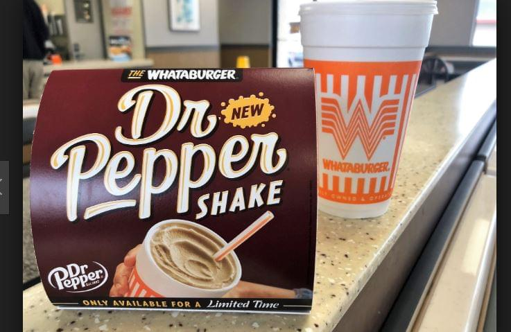 Whataburger Introduces Dr. Pepper Shake