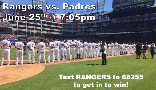 Text to Win: Rangers Tickets