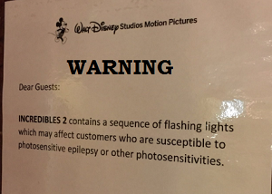 Disney Issues Medical Warning For 'Incredibles 2' Movie