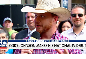 WATCH: Cody Johnson's National TV Debut