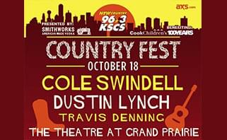 KSCS Country Fest 2018 @ The Theatre at Grand Prairie | 10.18.18