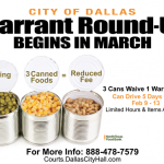 Warrant Round-Up: Donating Canned Foods Can Waive Warrant Fee