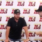 Luke Bryan takes on Connected K in  Backstage Foosball