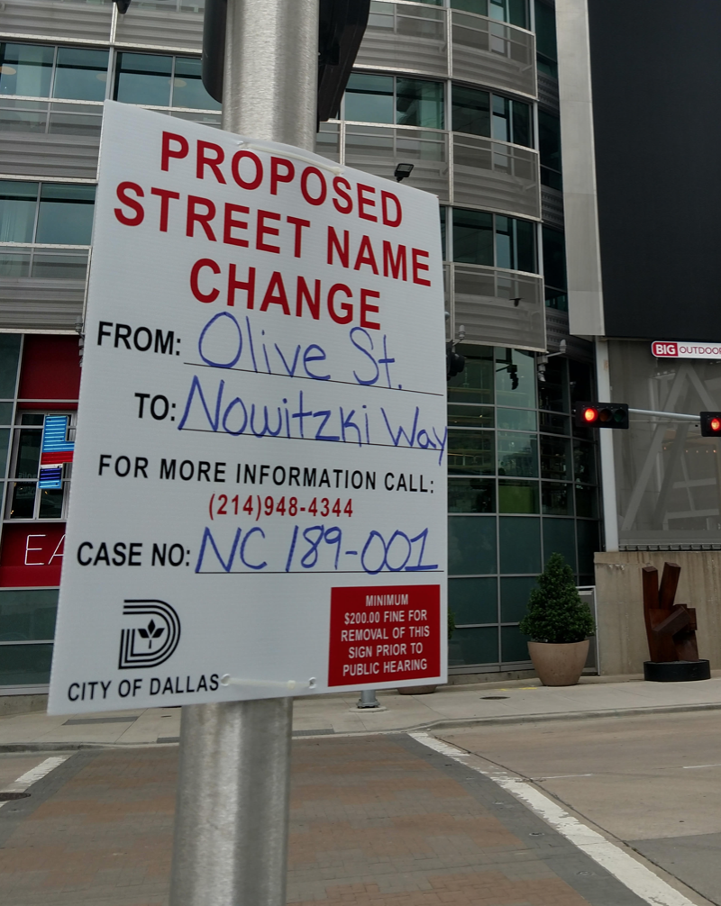 Street in front of American Airlines to be possibly named for Dirk Nowitzki
