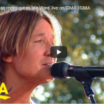 """Keith Urban Performs Acoustic Version of """"We Were"""" on GMA"""