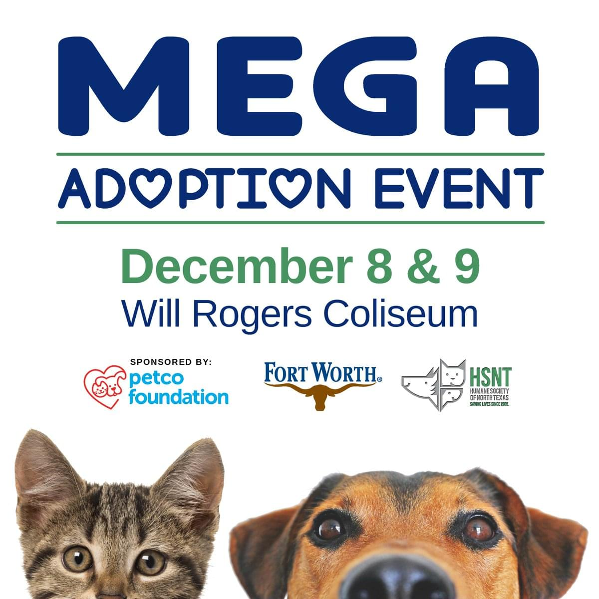 Mega Pet Adoption Event in Fort Worth This Weekend