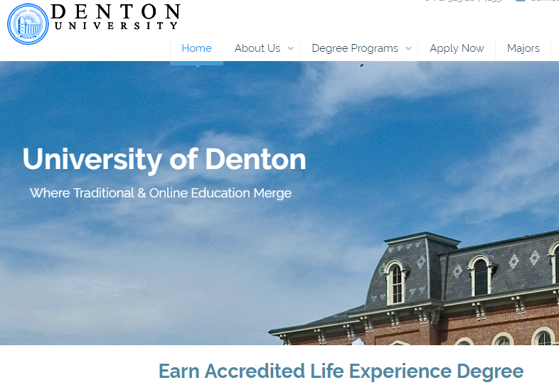 """Denton University"" Diploma Mill Issuing Fake Degrees"