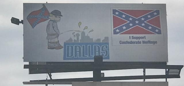 Texans React to Billboard Aimed at City of Dallas, Confederate Heritage