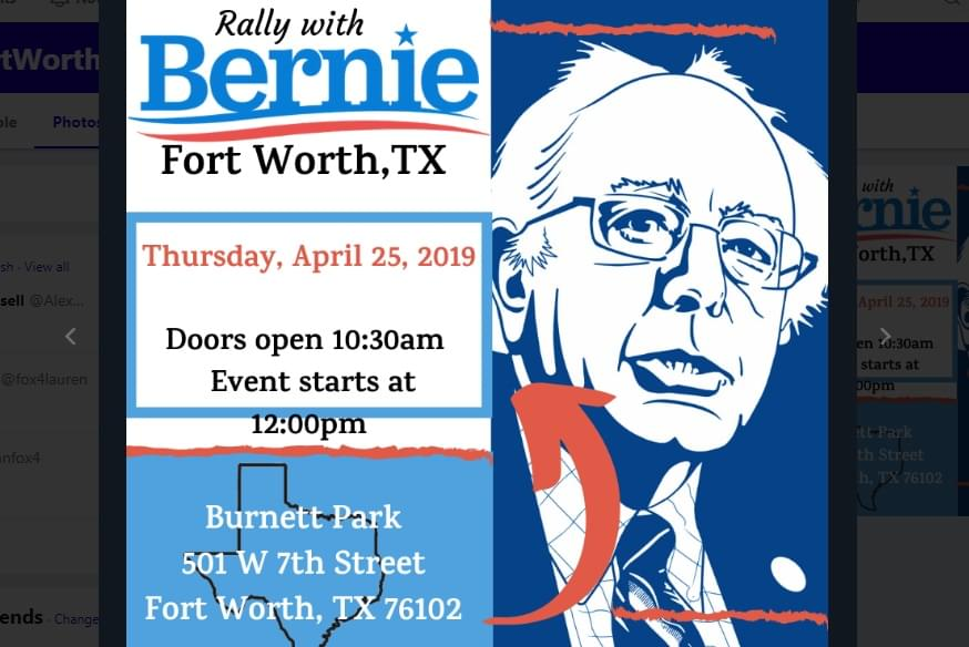 Bernie Sanders to Hold Rally at FTW's Burnett Park Today