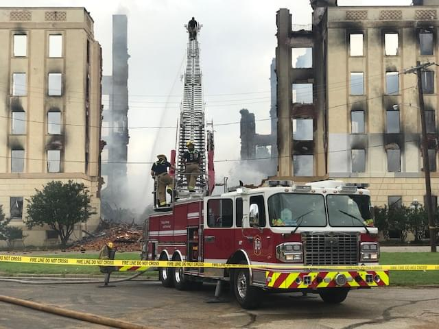 Fire Tears Through Vacant Ambassador Hotel in Downtown Dallas