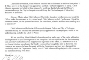 Formal Complaint Alleges Arlington Police Chief Used Racial