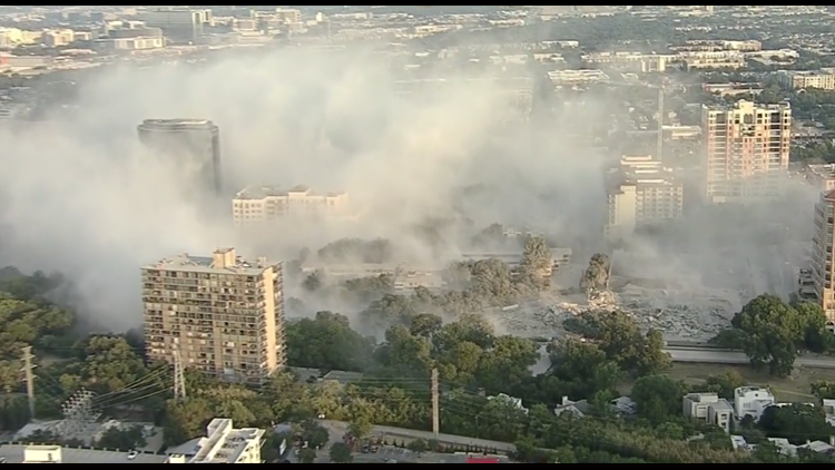 Old uptown Dallas office building imploded