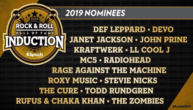 Rock Hall: 2019 Nominees Are…