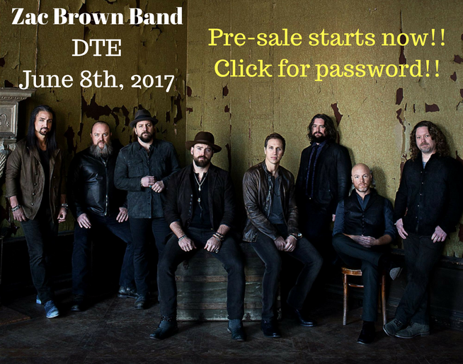 Zac Brown Band Coming to DTE – Ticket Presale!