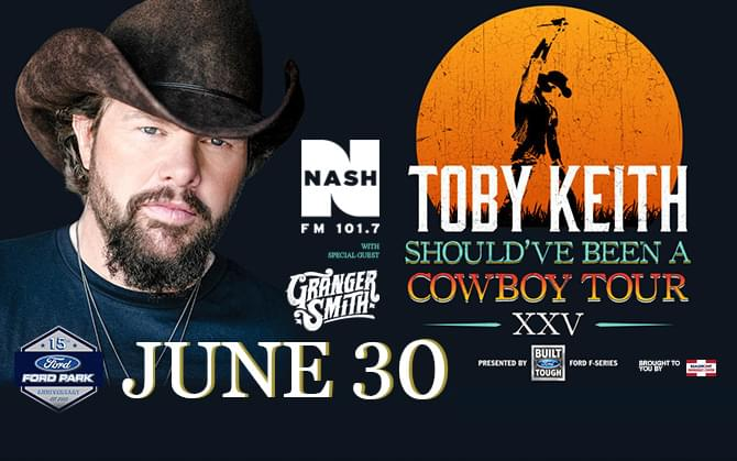 Toby Keith June 30 at Ford Park Pavilion