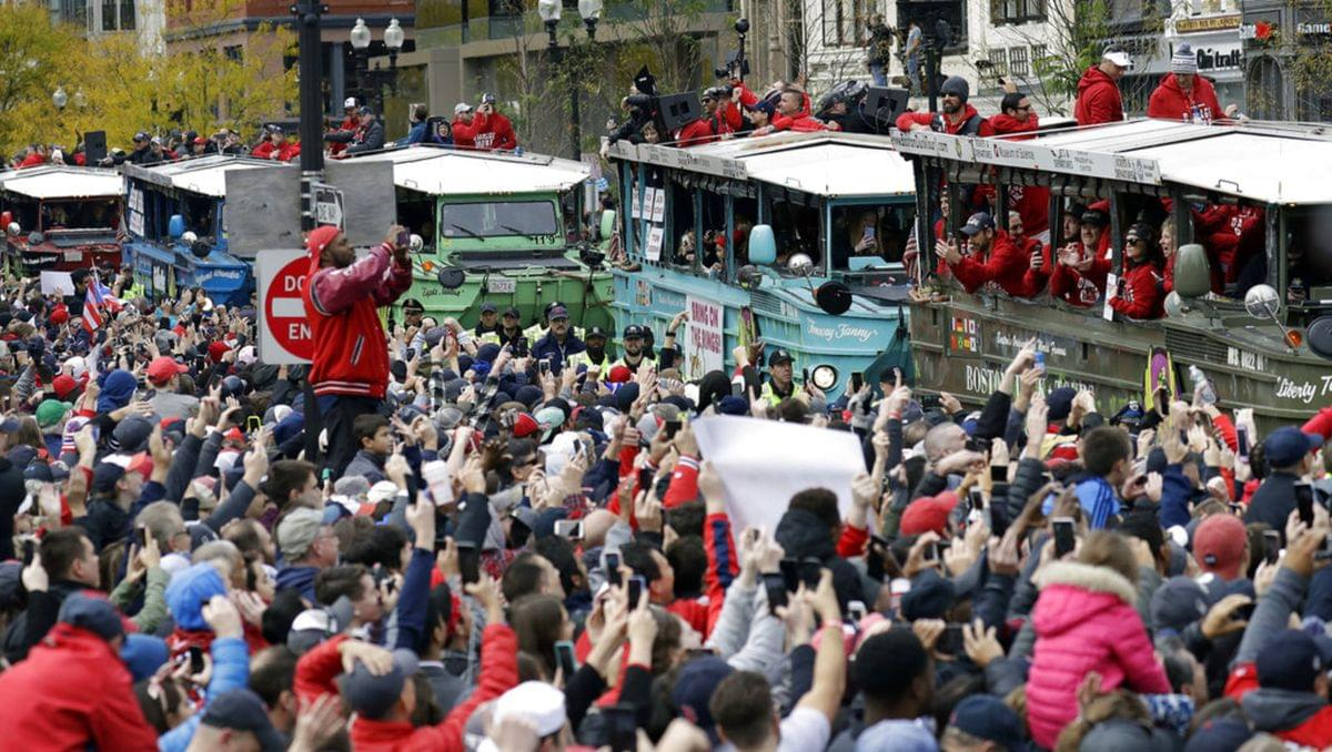 Red Sox Parade-Thrown Beer Cans
