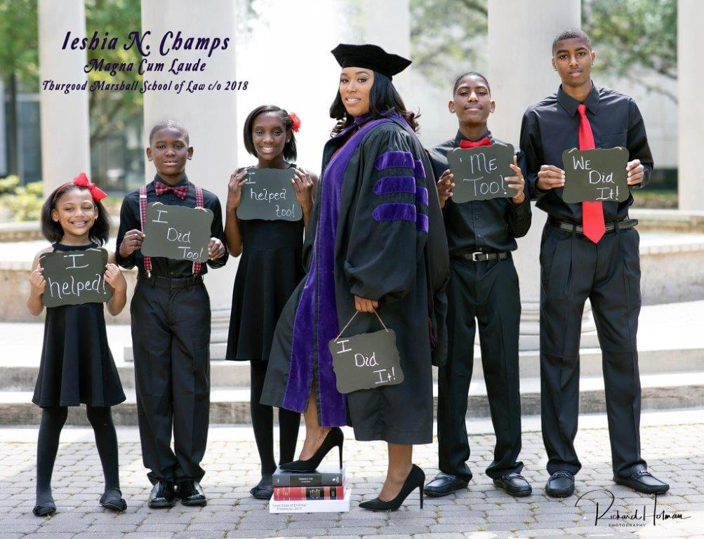 Single Mother of 5 in Houston Graduates from Law School