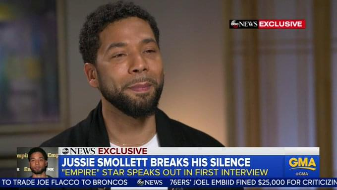 Jussie Smollett Has Given His First Interview Since Being Attacked