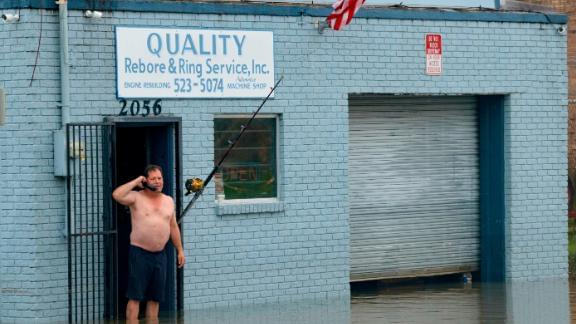 Flooding Hits New Orleans As Residents Brace For Hurricane