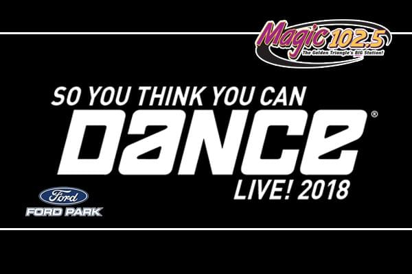 So You Think You Can Dance November 25 at Ford Park