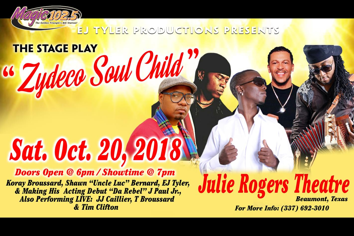 Zydeco Soul Child October 20 at the Julie Rogers Theatre