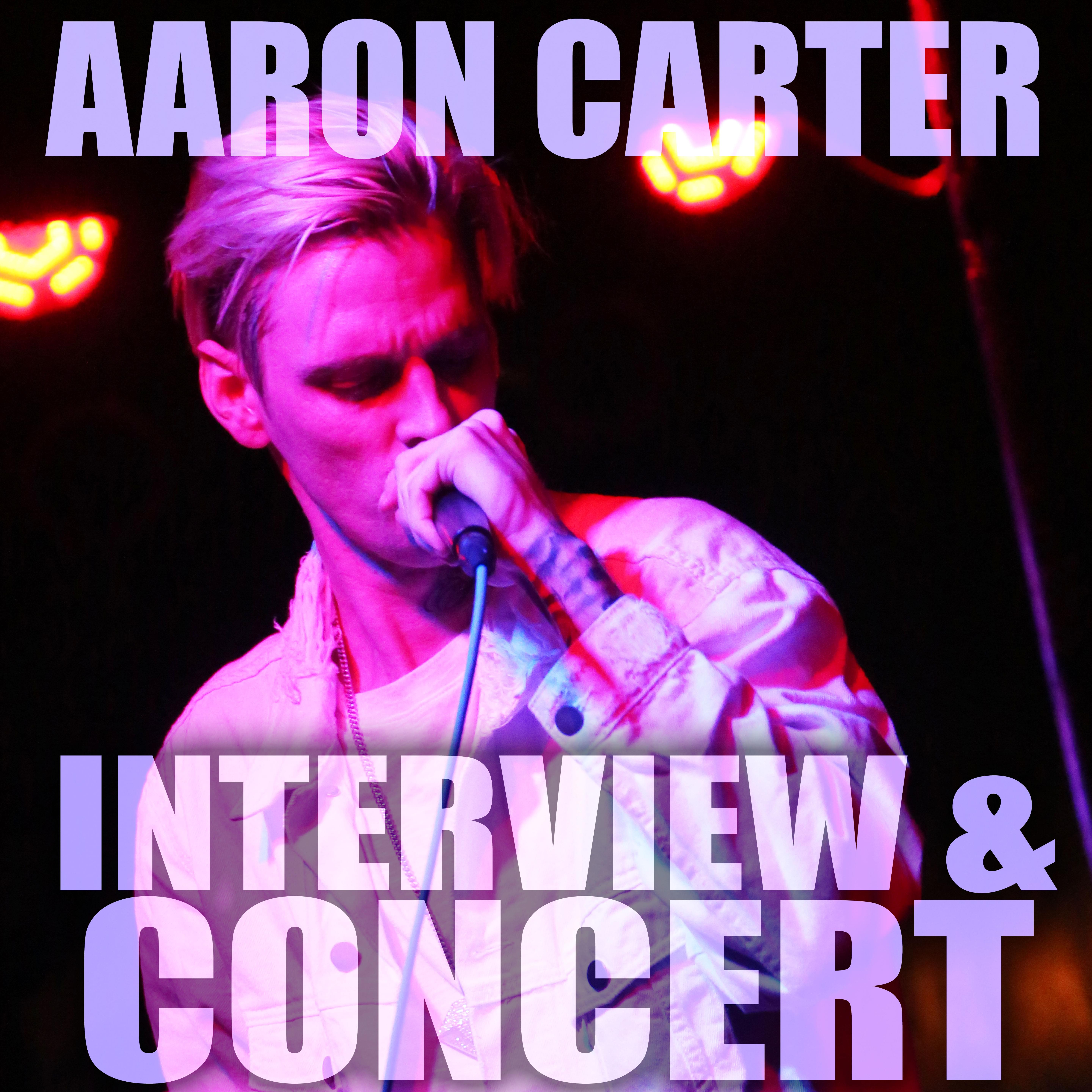 AARON CARTER – In Studio Interview and Concert Photos
