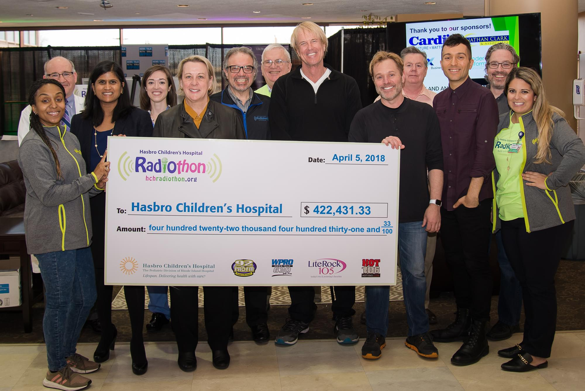 Radiothon 2018 check with amount