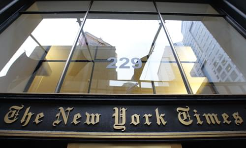 NY Times Defends Hiring Of Editorial Writer After Emergence Of Past Racial Tweets