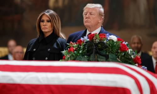 Bush Family Seeks To Steer Clear Of Anti-Trump Sentiment At 41st President's Funeral