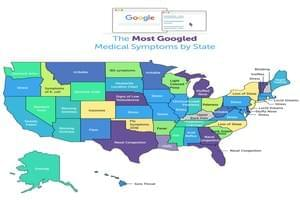 Most Googled Medical Symptoms by State