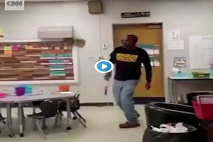 Kindergartners sing The Happy Birthday song in SIGN LANGUAGE to deaf janitor