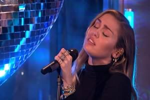 "[VIDEO] Miley Cyrus, Mark Ronson Cover ""No Tears Left To Cry"""