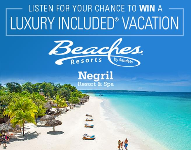 95.5 PLJ's 8:30 Commercial Free Getaway to Beaches Negril Resort & Spa!