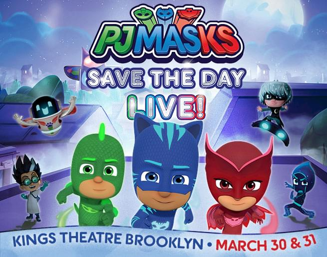 Win a 4-pack of tickets to PJ MASKS SAVE THE DAY LIVE!
