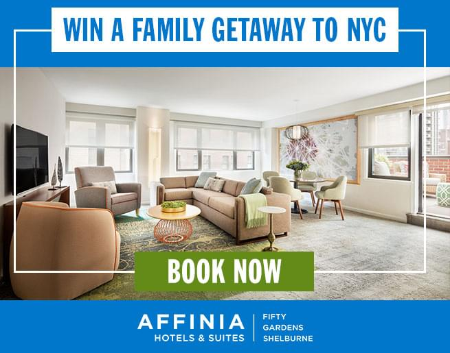 Win a Weekend Getaway at Affinia Shelburne Hotels & Suites!