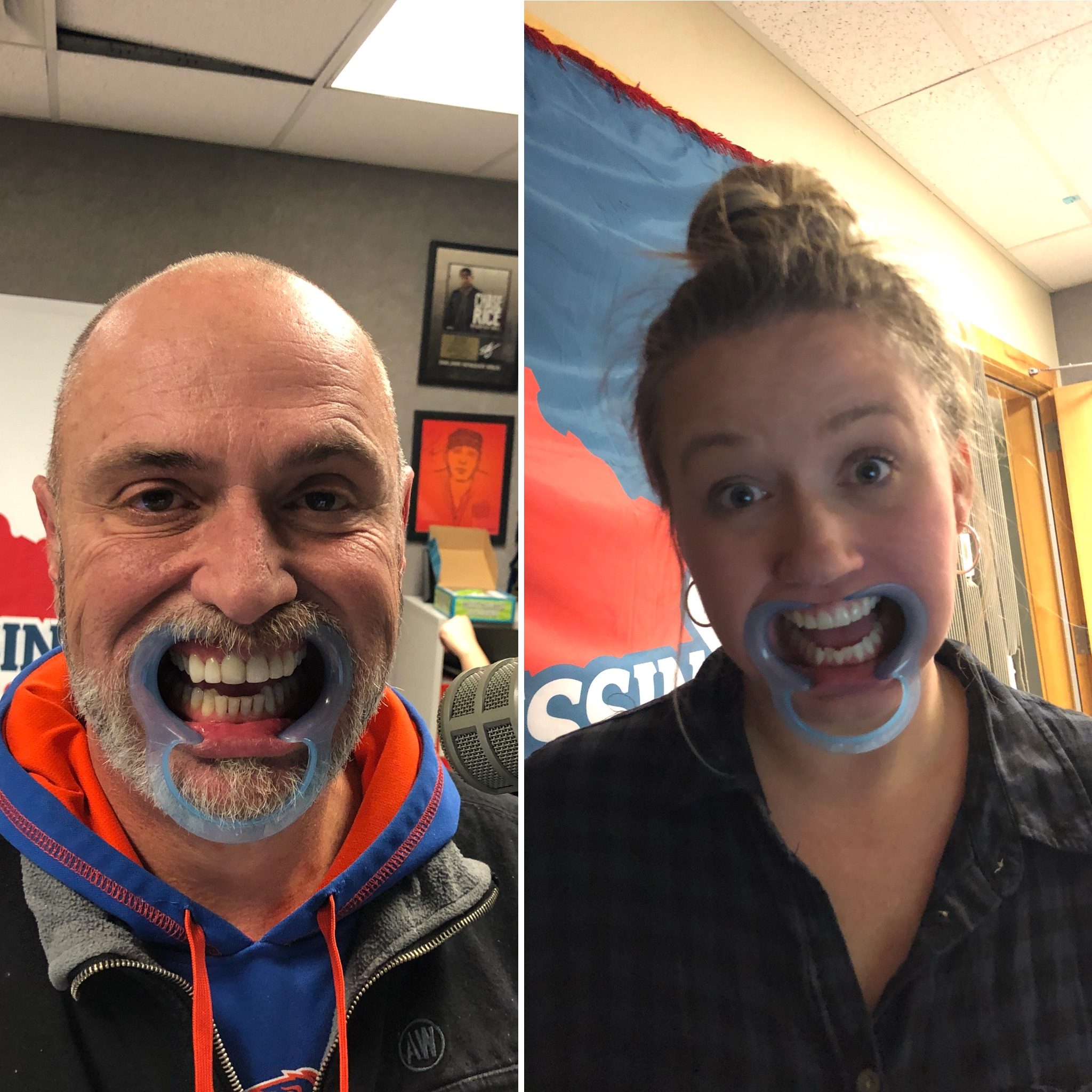 ICYMI: Cory & Shawnda's Mouth Guard Challenge! [VIDEO]